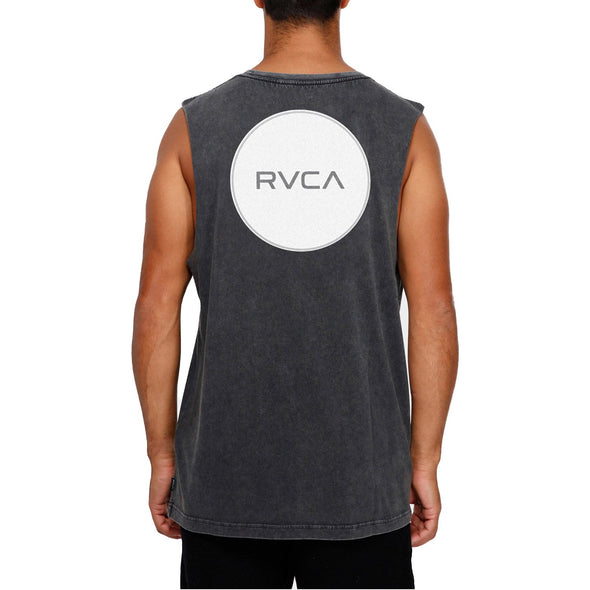 RVCA YTH MOTORS BADGE MUSCLE - BLACK ACID