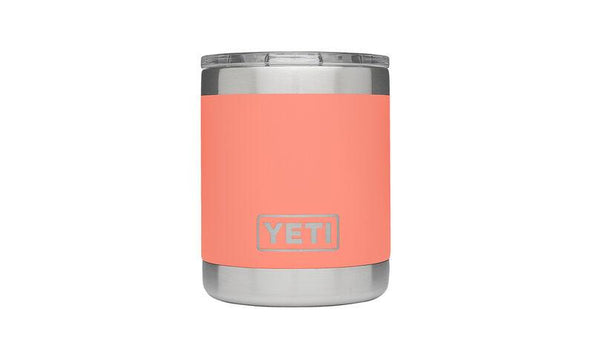 YETI RAMBLER 10 OZ LOWBALL (295ML) - CORAL