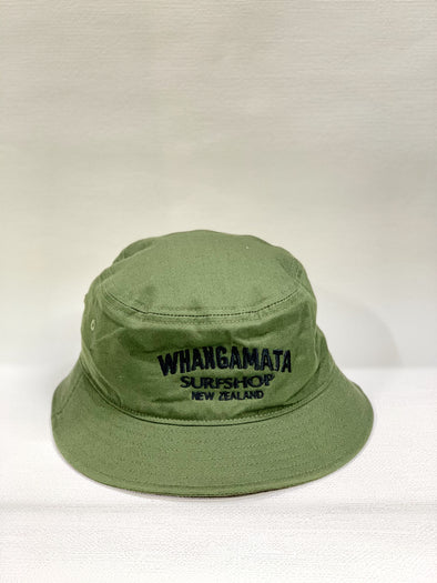 WHANGA SURF BUCKET HAT - ARMY