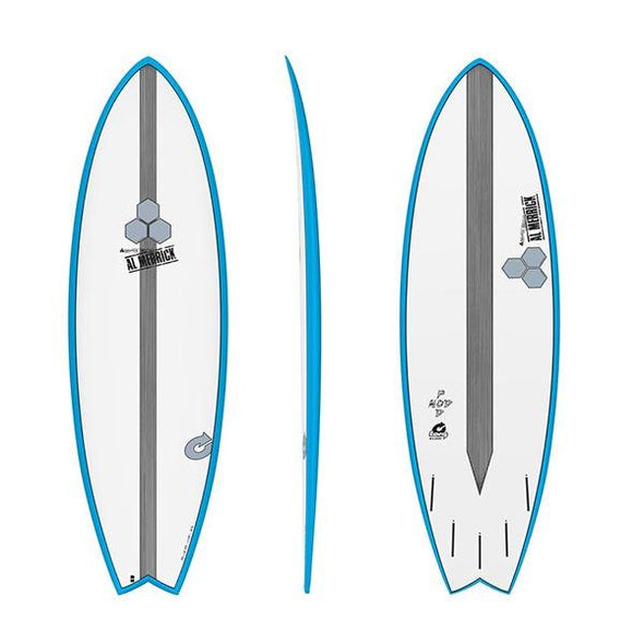 TORQ 6'6 CHANEL ISLANDS POD MOD BLUE RAILS