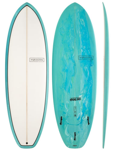 MODERN SURFBOARDS 6'8 HIGHLINE SEA TINT