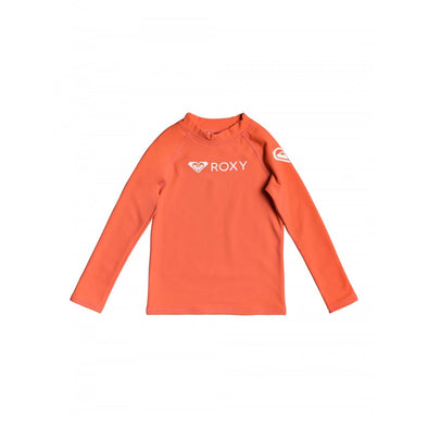 ROXY HEATER KIDS 3 - L/S RASH VEST - DEEP SEA CORAL