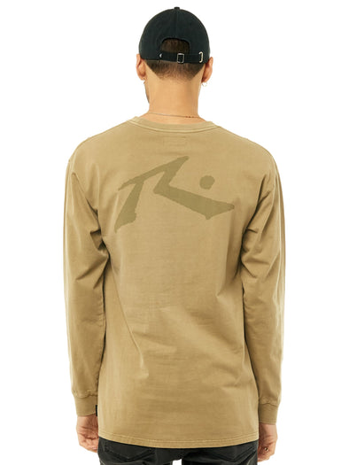 RUSTY COMP WASH LONG SLEEVE TEE - CVG