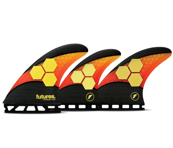 FUTURES AM2 TECH FLEX 5 FIN ORANGE RED LARGE