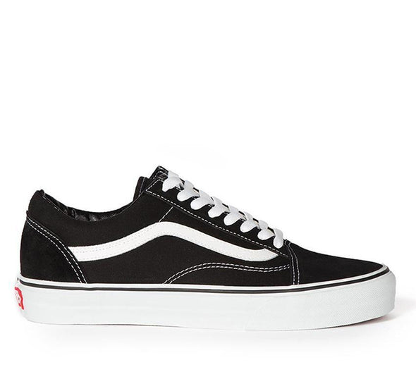 VANS OLD SKOOL BLACK/TRUE WHITE KIDS