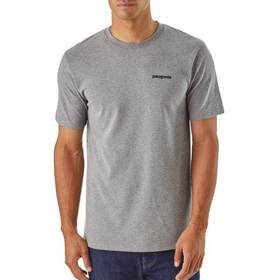 PATAGONIA M'S P-6 LOGO RESPONSIBILL-TEE-GRAVEL HEATHER