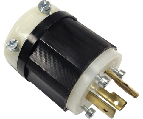 277v Grounding Locking Connector Plug 20A Nema L7-20P