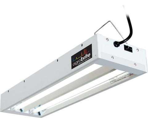 Hydrofarm Agrobrite T5 48W 2' 2-Tube Fixture With Bulb Lamps