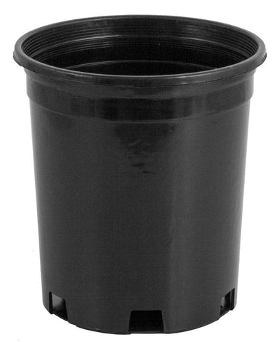 Pro Cal Premium Black Plastic Nursery Pot 1 gal, Pack of 20