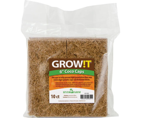 "GROW!T Coco Caps, 6"", pack of 10"