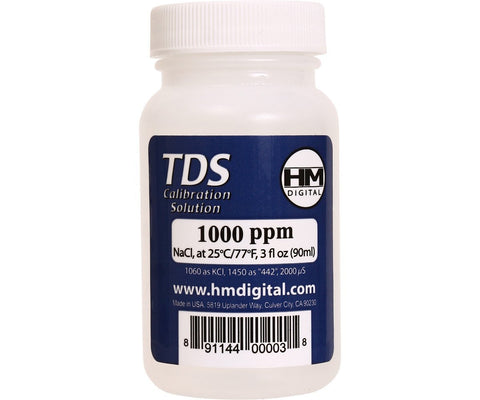 HM Digital Meters 1000 ppm TDS Calibration Solution 3 oz 90 ml