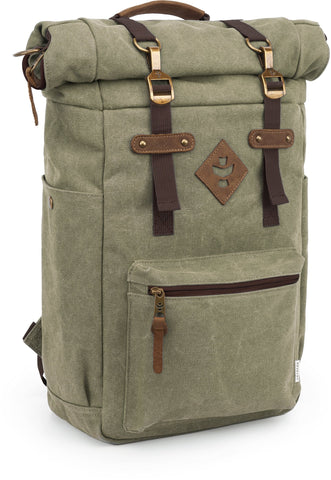 Revelry Supply The Drifter Rolltop Lockable Sage Backpack