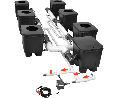 Slucket 8 Site Posiflow Complete System, 3' Center - A Hydrofarm Exclusive!
