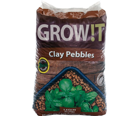 GROW!T Clay Pebbles, 4 mm-16 mm, 40 L