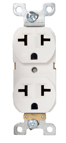 Duplex X Receptacle Box 120/240v 15a White Commercial Grade