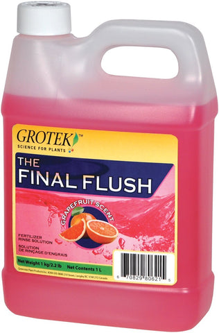 Final Flush Grapefruit Scent Fertiliser Rinse 1L