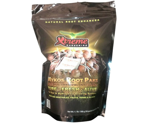 Xtreme Mykos Root Packs Pure Mycorrhizal Inoculum, 1.1 lbs, 50 Packs