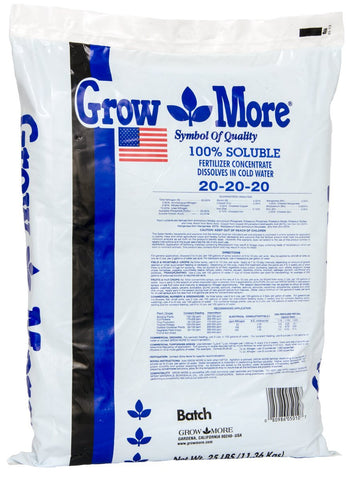 Grow More Cold Water Plant Fertilizer 25 lbs