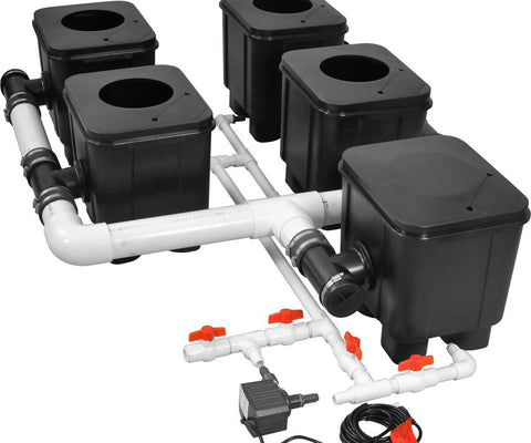 Slucket 4 Site Posiflow Complete System, 2' Center - A Hydrofarm Exclusive!