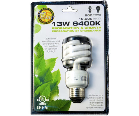 SunBlaster CFL Self ballasted lamp 13W 6400K 13W
