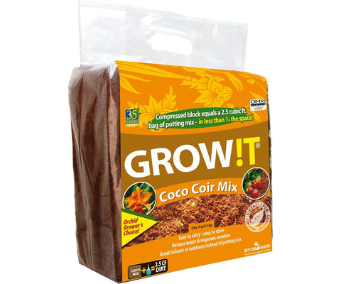 Organic Coco Coir Mix Root Vegetables Herbs Block