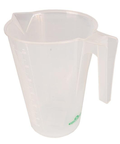 Hydrofarm Measuring Plastic Cups Non-Breakable 3000 ml 3 liter