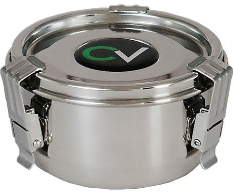 "CVault Humidity Curing Storage Stainless Steel Container 3.25"" x 1.75"""