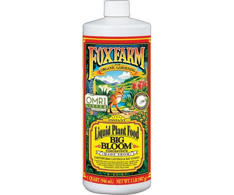 Foxfarm Big Bloom Liquid Organic Plant Fertilizers 1Qt