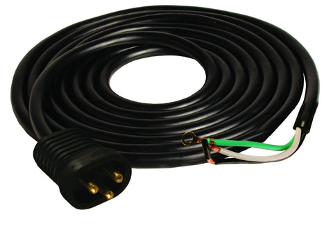 Male Lock & Seal Cord, 25', 600V, AWG 16/3, UL