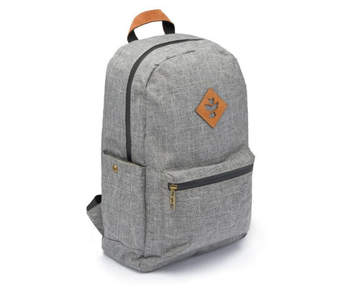 Revelry Supply The Escort Waterproof Backpack Crosshatch Grey