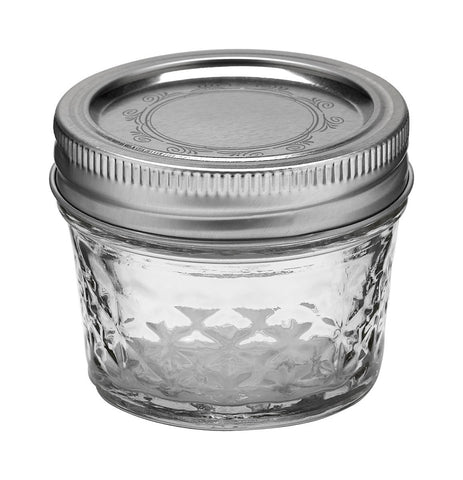 Ball Quilted Crystal  Quilted Jelly Jars 4 oz