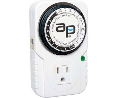 Autopilot Analog Grounded Timer 1725W, 15 Minute On/Off