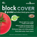 "Rockwool Block Cover, 8"", Pack of 40"