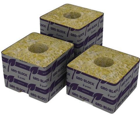 "Grodan Pro Delta 10 Block 4"" x 4"" x 4"" case of 144 Commercial"