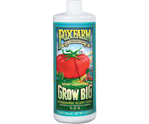 FoxFarm Grow Big Hydroponic Liquid Fertilizer Soil 1qt