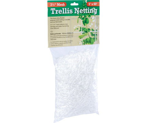 Hydrofarm Flexible String Trellis Netting 5' x 60' 3.5""