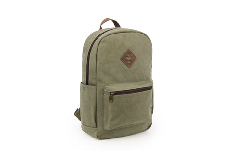 Revelry Supply The Escort Leather Accents Sage Backpack