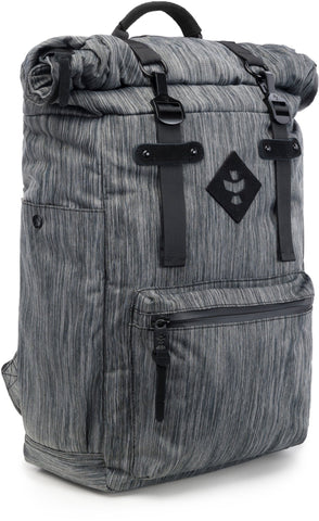 Revelry Supply The Drifter Rolltop Lockable Striped Black Backpack