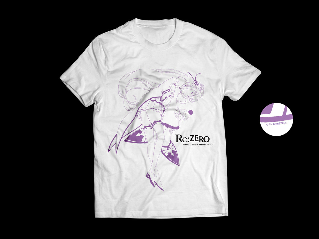 Playera de Emilia - Re:ZERO (Blanca)