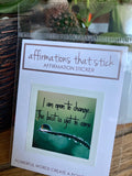 I Am Open To Change Affirmation Sticker-Affirmations That Stick CA