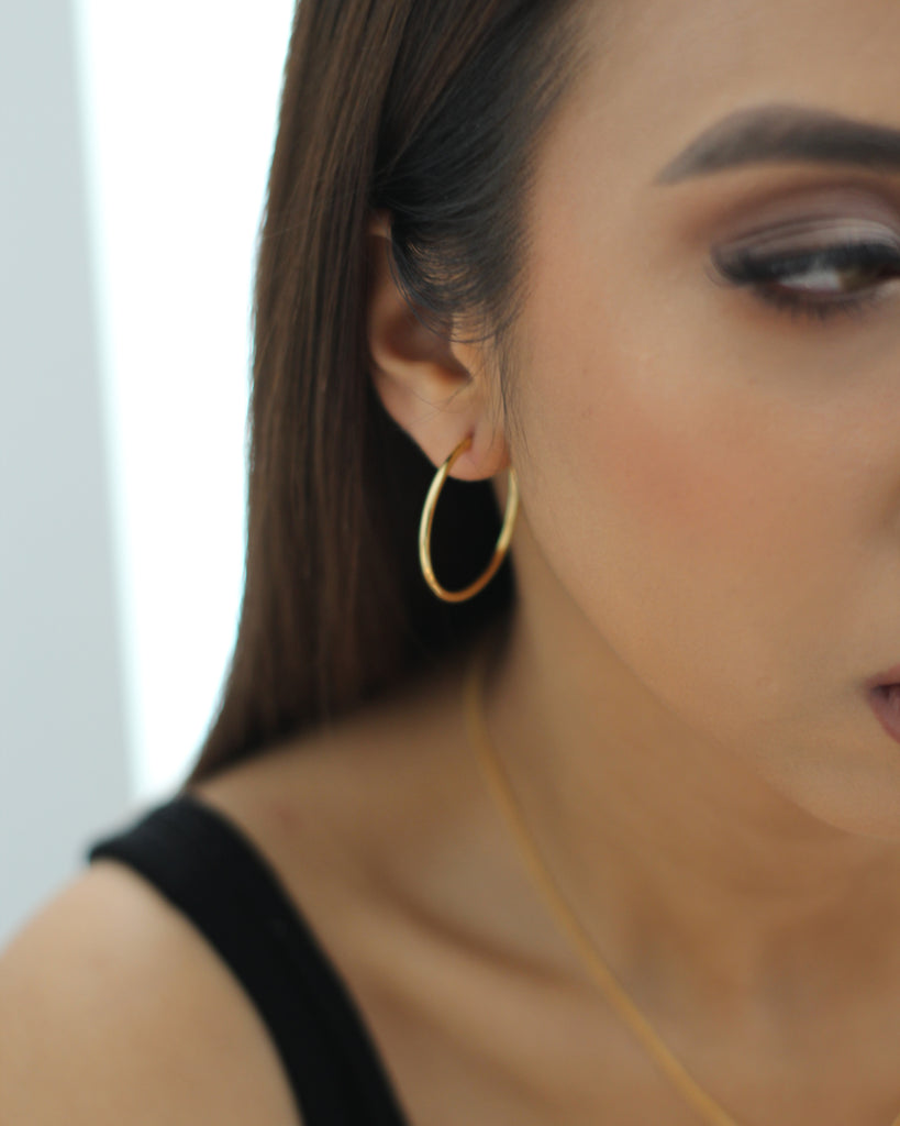 Large Gold Infinity Hoop Earrings