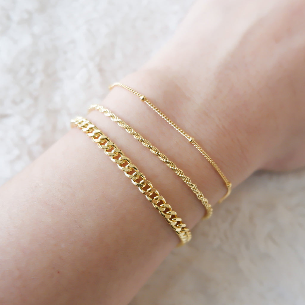 chain bracelets canada gold vermeil twisted chain curb link satellite chain