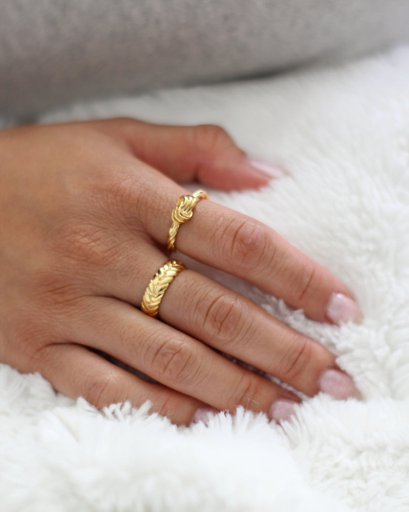 Gold Knot Braided Ring