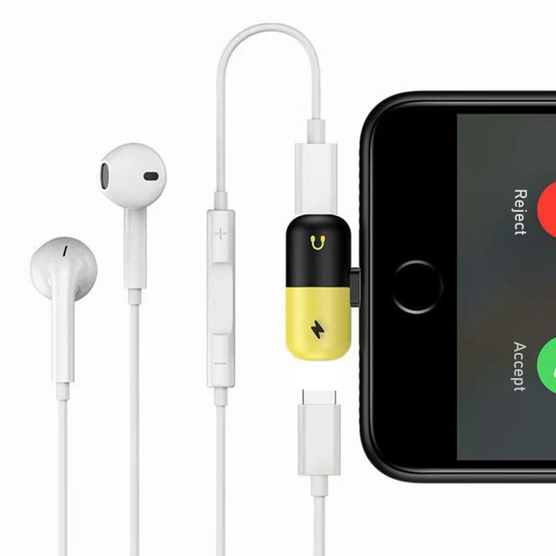 FREE 2 in 1 Lightning Adapter For iPhone Charging and Audio