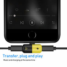 Load image into Gallery viewer, FREE 2 in 1 Lightning Adapter For iPhone Charging and Audio
