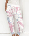 Nicelyday TIE DYE PATTERN DRAWSTRING JOGGERS - pinksaviorband