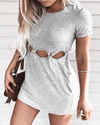 Hollowed-out Dress (4 colors)
