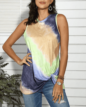 Tie Dye Twist Tank Top (3 Colors)