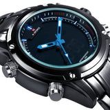 NAVIFORCE NF9050 Luxury Dual Movt Men Quarz Watches Analog Digital LED Sport Military Wrist Watch Chronograph