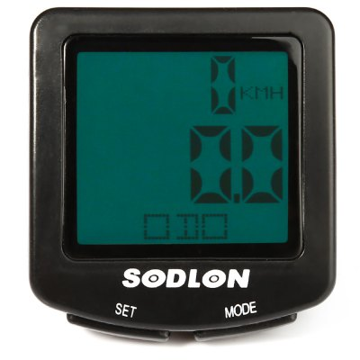 Sodlon SD - 571 Versatile 30 Functions LCD Backlight Bike Computer Water Resistant Cycling Odometer Speedomete......